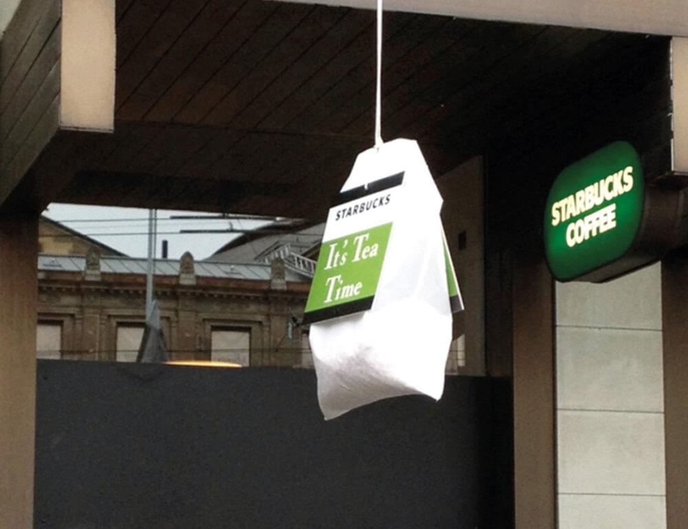 Starbucks - Teebeutel – Raphael Monsch - Art Director - Konzepter - Guerilla Marketing